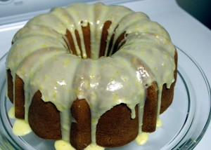 glazed pound cake