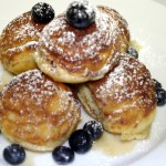 Stuffed Buttermilk Pancakes with Fresh Berries and Pure Maple Syrup