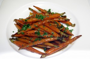 brown sugar carrots plated