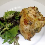 Marinated Chicken with Fresh Herb Salad and Passion Fruit Vinaigrette