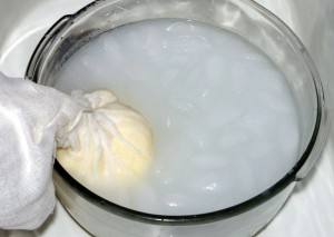 butter in ice bath