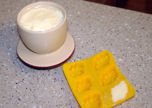 forming butter in molds