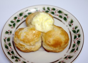 homemade butter on biscuits
