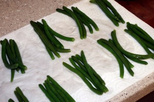 green beans drained