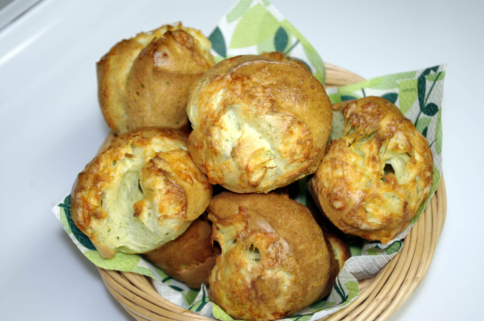 Herbed Popovers With Monterey Jack Cheese