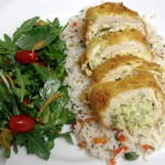 Mexican Stuffed Chicken Breast Plated