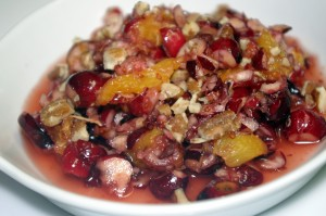 fresh cranberry-pecan fruit relish