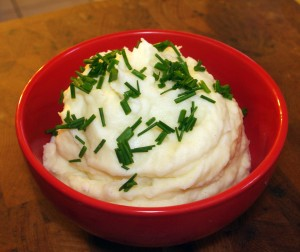 mascarpone and chive mashed potatoes