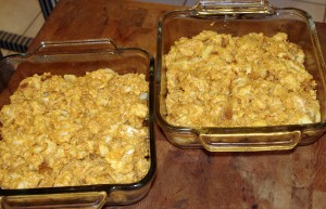 Pumpkin Bread Pudding - pre-baked