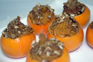 Mini Sweet Potato Tangerine Cups with Gingersnap-Pecan Sprinkles