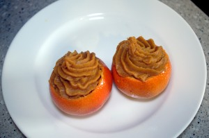 Mini Sweet Potato Tangerine Cups - filled