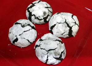Chef Kathy's Winning Cookie Recipes - Chocolate Crinkle Cookie