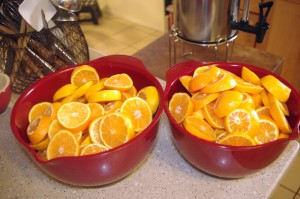 Honey-Preserved Clementines - clementines cup up