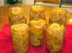 Honey-Preserved Clementines - clementines in jars