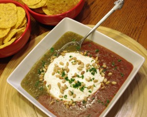 Super Bowl Party Appetizers - Salsa Baked Goat Cheese
