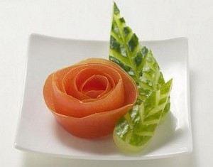 Tomato Rose Garnishing